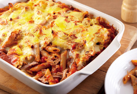 pasta bake...sadly not mine (Aldi's picture!)